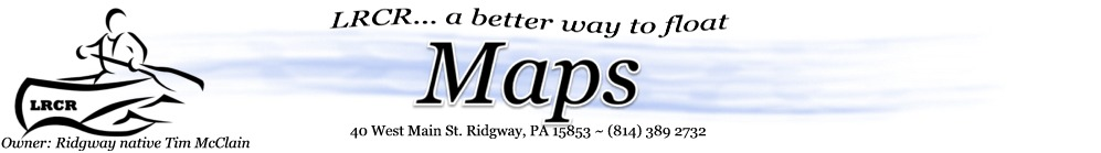 Lazy River Canoe Rental maps header